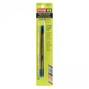 RYOBI 10 Teeth per In. Regular Tooth Scroll Saw Blades 4-Pack