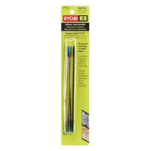 RYOBI 15 Teeth per In. Scroll Saw Blades 4-Pack