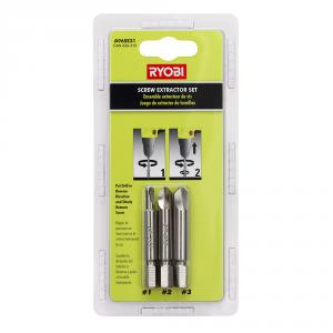 RYOBI 3 Piece Screw Extractor Set