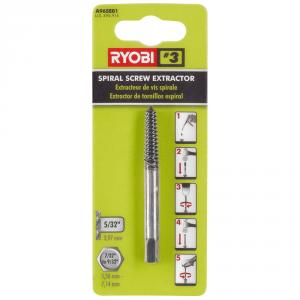 RYOBI No. 3 Black Oxide Spiral Screw Extractor