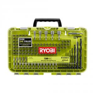 RYOBI 120 Piece Black Oxide Drill and Drive Bit Set