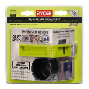 RYOBI Wood Door Lock Installation Kit