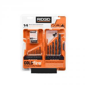 RIDGID Black Oxide 14 Piece Drill Bit Set