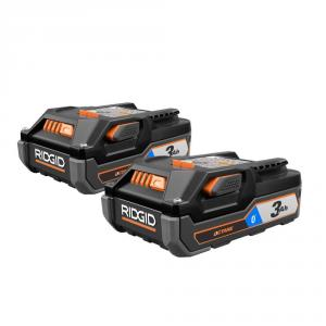 RIDGID OCTANE 18 Volt Lithium-Ion 3aH Battery 2-Pack