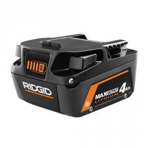 RIDGID 18 Volt 4.0 Ah MAX Output Lithium-Ion Battery