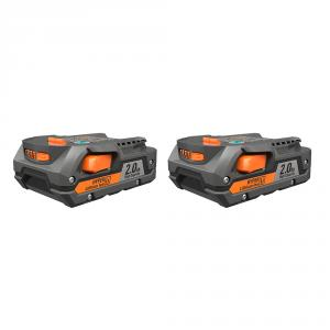 RIDGID 18 Volt 2.0 Ah Lithium-Ion Battery 2-Pack