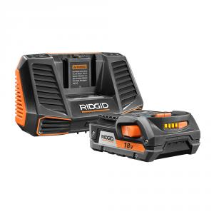 RIDGID 18 Volt Lithium-Ion Battery and Charger Kit