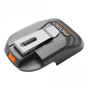 """RIDGID 18 Volt USB Portable <em class=""""search-results-highlight"""">Power</em> Source with Activate Button"""