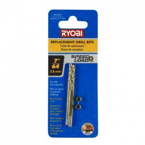 RYOBI 7/64 In. SPEEDLOAD 4 Piece Bit Set