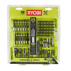 RYOBI 68 Piece Impact Driving Bit Set
