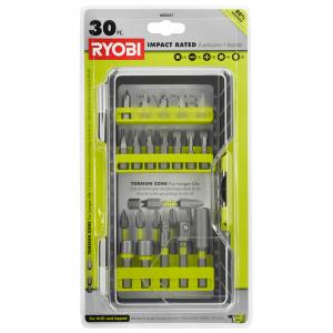 RYOBI 30 Piece Impact Rated Driving Bit Set