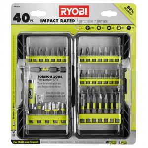 RYOBI 40 Piece Impact Driving Bit Set