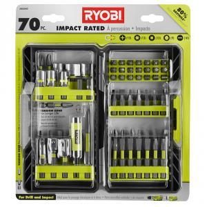 RYOBI 70 Piece Impact Rated Driving Bit Set