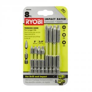 RYOBI 8 Piece Impact Rated Driving Kit