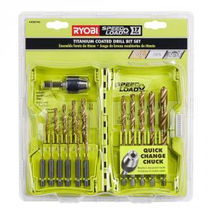RYOBI 17 Piece Titanium Coated SPEEDLOAD Drill Bit Set