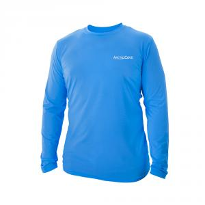 ARCTIC COVE Men's Xtra Large Long Sleeve Cooling Shirt in Blue