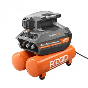 RIDGID 200 PSI 4.5 Gal Electric Quiet Compressor