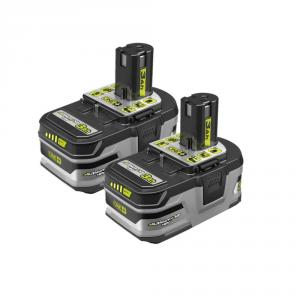 RYOBI ONE+ 18 Volt Lithium+ HP 3.0 Ah High Capacity Battery 2- Pack