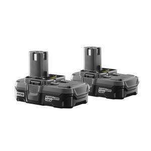 RYOBI ONE+ 18 Volt Compact Lithium-Ion Battery 2-Pack