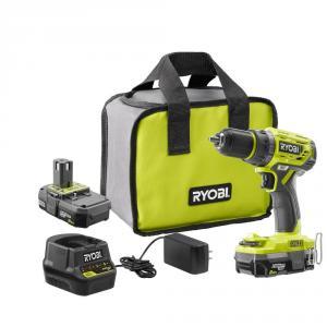 RYOBI ONE+ 18 Volt Brushless Drill/Driver Kit