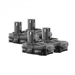 RYOBI ONE+ 18 Volt Lithium-Ion Battery 4 Pack