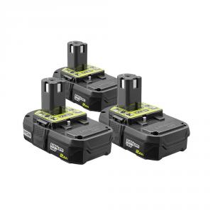 RYOBI 18 Volt ONE+ 2.0 Ah Compact Lithium-Ion Battery Kit - 3 Pack