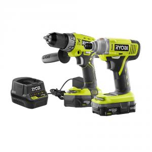 RYOBI 18 Votl ONE+ Hammer Drill and Impact Driver Combo Kit