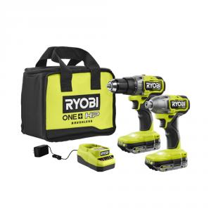 RYOBI 18 Volt ONE+ HP Brushless Cordless 1/2 In. Drill/Driver and Impact Driver Kit