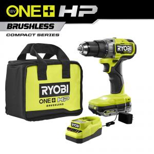 RYOBI 18 Volt ONE+ HP Brushless Cordless 1/2 in. Drill/Driver Kit