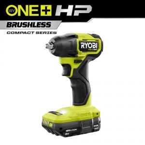 RYOBI 18 Volt ONE+ HP Brushless Cordless Compact 3/8 In. Impact Wrench Kit