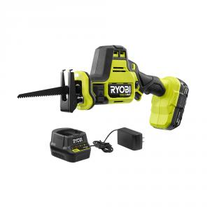 RYOBI ONE+ 18 Volt HP Brushless Cordless Compact One-Handed Reciprocating Saw Kit