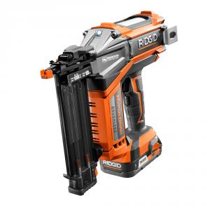 RIDGID 18 Volt Lithium-Ion HYPERDRIVE Brushless 18 Gauge Nailer Kit