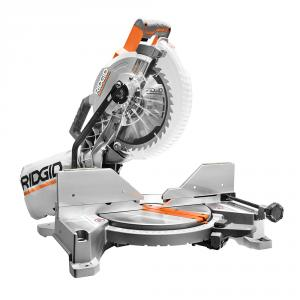 RIDGID 15 Amp 10 In. Dual Miter Saw with LED Cut Line Indicator