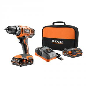RIDGID 18 Volt Lithium-Ion 1/2 In. Compact Drill/Driver Kit