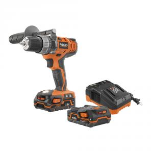 RIDGID 18V 1/2 In. Compact Hammer Drill/Driver Kit