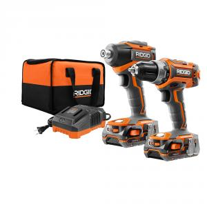 RIDGID 18 Volt Lithium-Ion GEN5X Brushless Drill/Driver and Impact Driver Kit