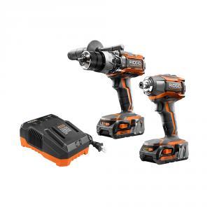 RIDGID 18 Volt 3-Speed Hammer Drill / Impact Driver Kit