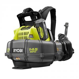 RYOBI 40 Volt Whisper Series Cordless Battery Backpack Leaf Blower Kit