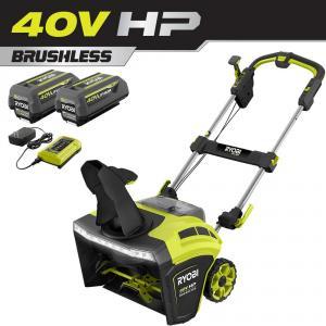 RYOBI 40 Volt HP Brushless 21 in. Cordless Single Stage Snow Thrower Kit