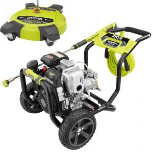 RYOBI 3400 PSI 2.3 GPM Cold Water Gas Pressure Washer with 16 in. Surface Cleaner