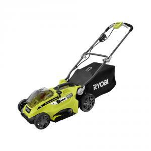 RYOBI ONE+ 18 Volt 16  In. Lithium-Ion Hybrid Lawn Mower Kit