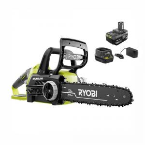 RYOBI ONE+ 18 Volt Brushless 12 in. Cordless Battery Chainsaw