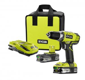 RYOBI ONE+ 18 Volt Lithium-Ion 1/2 In. Cordless Compact Drill Kit