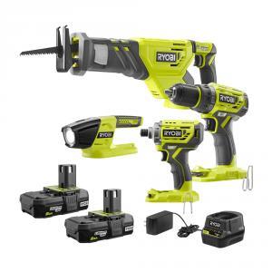 Special Buy: RYOBI 18 Volt ONE+ Brushless 4 Tool Combo Kit