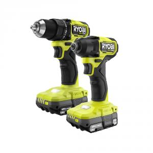 RYOBI HP 18 Volt ONE+ Brushless Compact 1/2 In. Drill and Impact Driver Kit