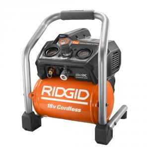 "RIDGID 18 Volt <em class=""search-results-highlight"">Cordless</em> Brushless 1 Gallon Portable Air Compressor"
