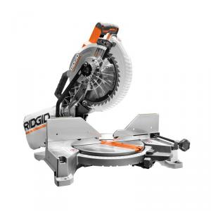 RIDGID 15 Amp Corded 10  In. Dual Bevel Miter Saw