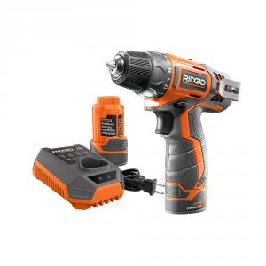RIDGID 12 Volt Lithium-Ion 3/8 In. 2-Speed Drill Kit