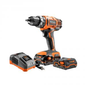 RIDGID 18 Volt Lithium-Ion 2-Speed Compact Drill/Driver Kit