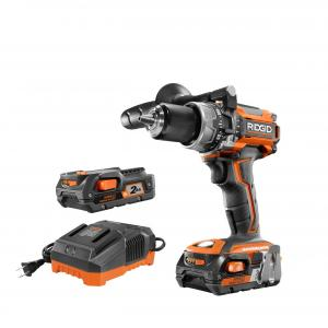 RIDGID 18 Volt Lithium-Ion Brushless Motor Compact Hammer Drill